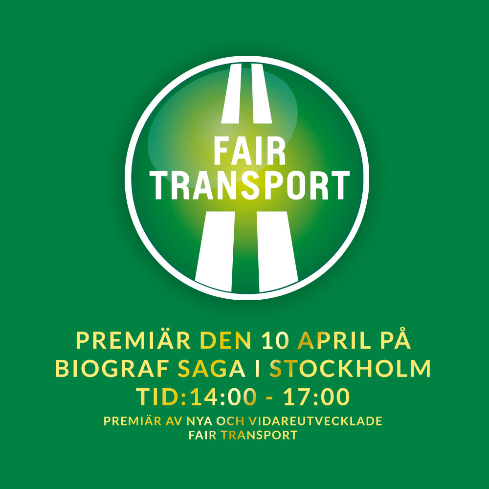 Fair Transport - Nyheter - Premiär på Biograf Saga 10 April, 14:00 - 17:00